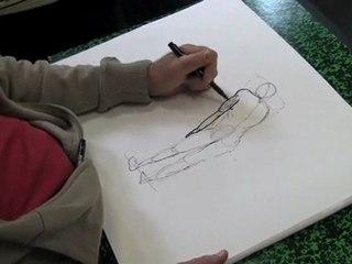 Cours de dessin : stage corps humain modèle vivant