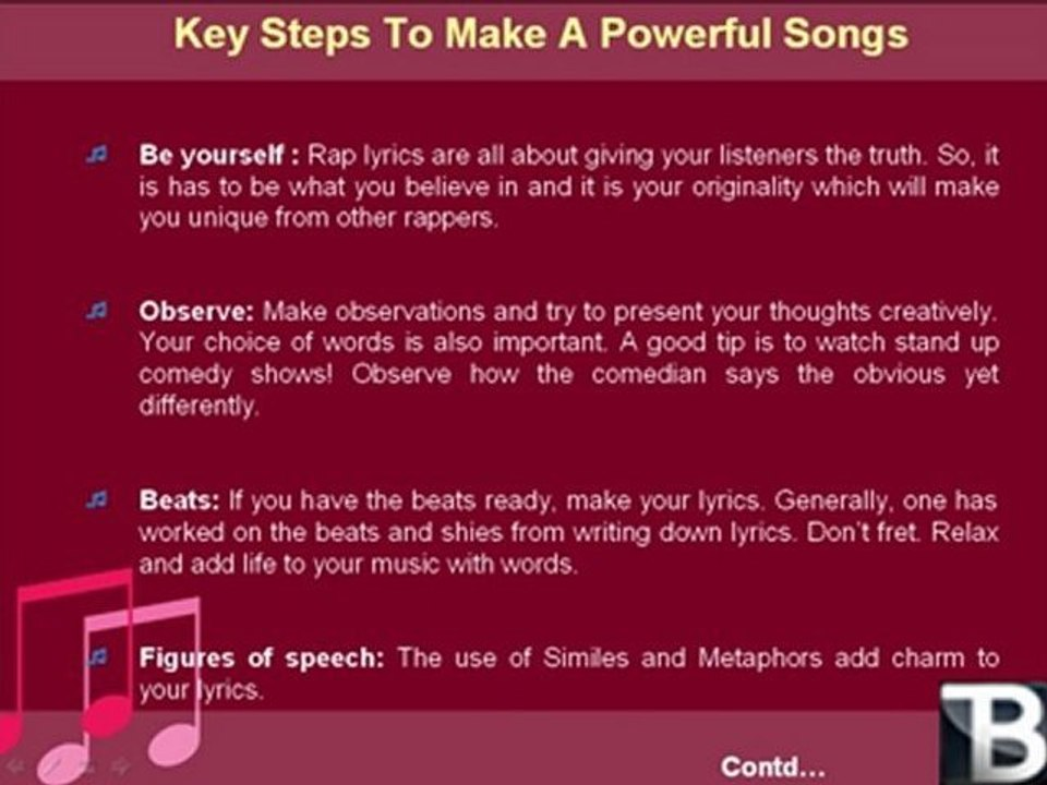 How to write rap songs video