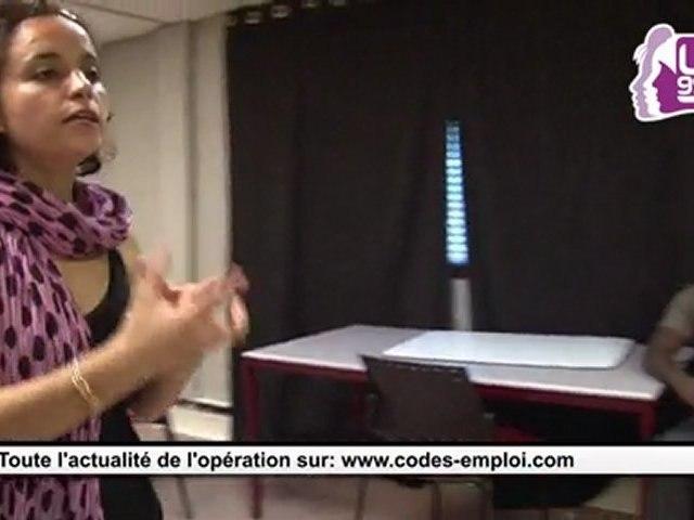 Tournage des CV vidéo Codes Emploi 2011: les coulisses avec Ibtissem Guerda