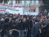 Flash bombs and tear gas fill Athens streets