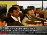 Absuelven a policías vinculados con sublevación en Ecuador