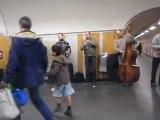 """buskers on """" Châtelet-les Halles"""" metro station , Paris"""