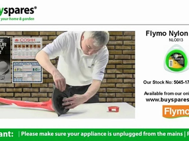 How to replace the spool and line on a Flymo strimmer