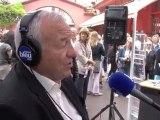 france bleu azur en direct du marché Forville de Cannes avec Bernard Brochant, Député-Maire de Cannes et Eric Charray.