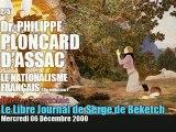 Philippe Ploncard d'Assac: Le Nationalisme Français 3 (2/3) - Radio Courtoisie
