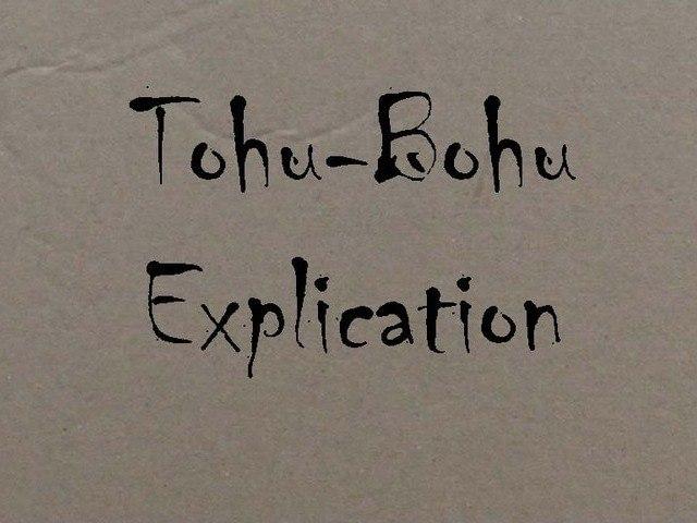 Explication de Tohu-Bohu