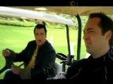 Steven Seagal fights his way in a golf course