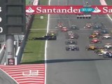 GP2 Espagne 2011 Race 1 Crash start