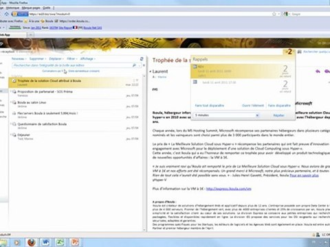 Les nouveautés d'Outlook Web App 2010