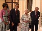 Obamas arrive at Buckingham Palace