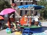 """Pascalette et son manège à vélo au festival """"L'Echo des mots"""" à Pont-du-Fossé"""