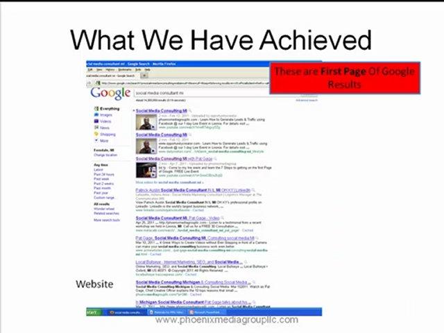 Michigan Internet Web Marketing, Job Hunt Training and Job Hunt Coaching.