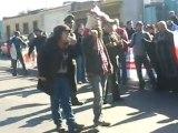 Primer día de Huelga. En el frontis de División El Teniente de Codelco Chile