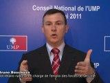 UMP- Militants et cadres de l'UMP derrière Nicolas Sarkozy