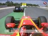 Race 1 Start Filippi Crash GP2 2011 Round02 Spain Race1