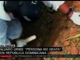 Trabajadores dominicanos declaran persona no grata a Uribe