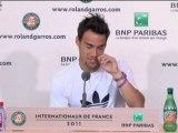 "Roland Garros - Fognini:"" fue difícil retirarme"""