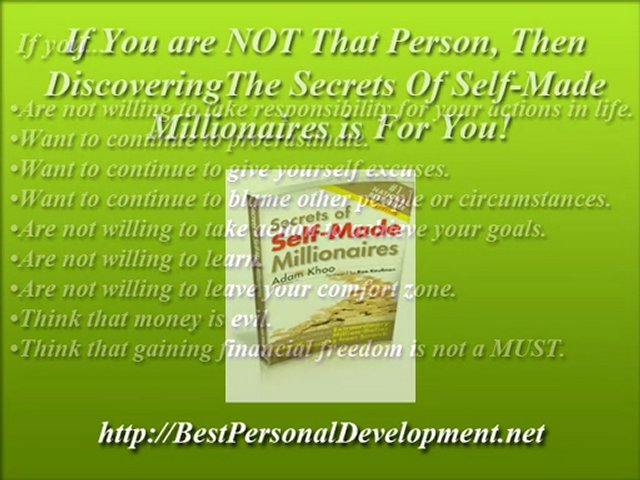 Best Personal Development  – Discover The Secrets Of Self-Made Millionaires