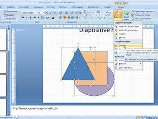 Objets dessinés dans Microsoft Powerpoint