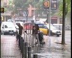 Lluvia y bajada de temperaturas en Barcelona