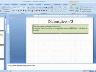 Objet Zone Texte dans Microsoft Powerpoint