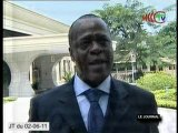 Le ministre du développement durable répond aux questions de la presse