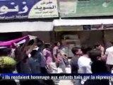 Syrie: des dizaines de milliers de manifestants, des dizaines de morts