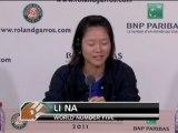 """Li Na: """"Domani una partita come tante altre"""""""