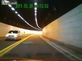 Tunnel Crash Caught on Dashcam