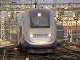 Arrivée d'une rame TGV Duplex à la gare de Lyon Perrache