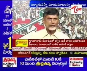 Chandrababu naidu speaking  on Farmers issue