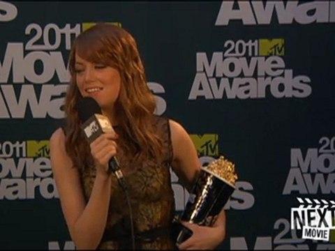 2011 MTV Movie Awards: Backstage with Emma Stone