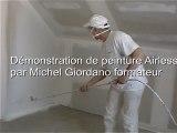 Peintures pistolet Airless 1h 100€ HT devis rénovation plafonds murs peint repeints rafraichis pistolage propre habitat