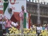 AMLO asamblea nacional en el zocalo 5 JUN 2011