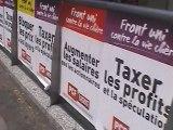 """Rassemblement """"Front uni contre la vie chère"""" devant le ministère des finances"""