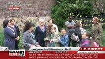 Les parents d'élèves bloquent l'école Viala (Wazemmes)