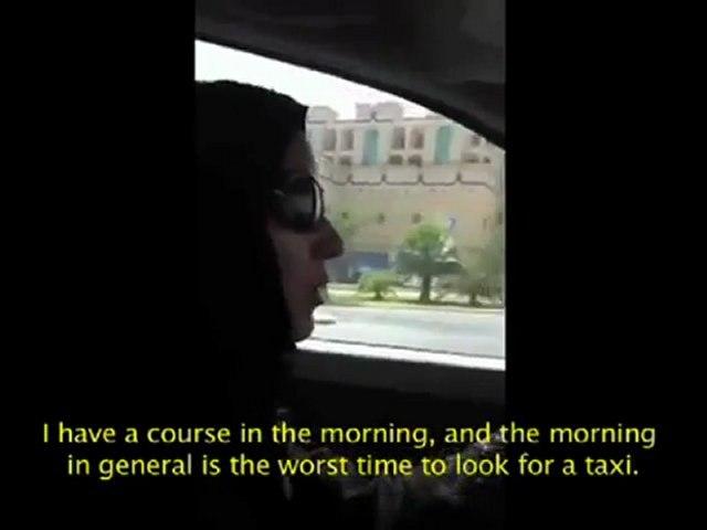 Manal Al Sharif driving in Saudi Arabia (with English subtitles)