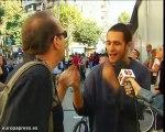 Piquetes de Barcelona intentan que no abran los comerciantes