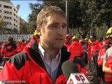 300 bomberos se manifiestan contra  Interior