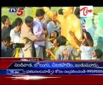 Jagan Unveiled YSR's Statues several places @ SKKM dist- Heavy Responce from Public