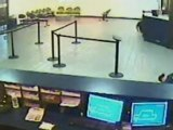 Armed robbery caught on CCTV