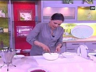 Les gâteaux de Choumicha - Ghoriba et Verrine au fromage blanc et aux framboises
