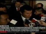 Uribe pide ser acusador civil contra Piedad Córdoba