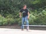 Skate boardslide