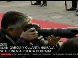 Alan García y Ollanta Humala se reúnen a puerta cerrada