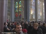 Gran afluencia de visitantes en la Sagrada Familia