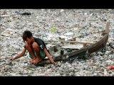 Pollution fleuve Citarum Ile de java Indonésie !