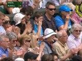 SET2 SET3 Rafael Nadal vs Michael Russell R1 WIMBLEDON 2011 [Highlights by Courtyman]