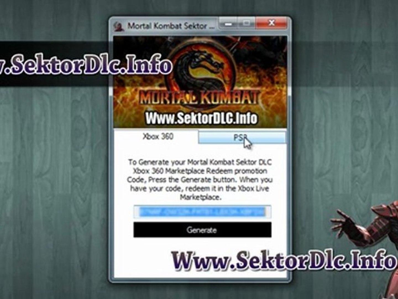 Mortal Kombat Sektor DLC Code Free Download on Xbox 360 - PS3
