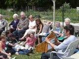 Monsures : lecture aux jardins partagés